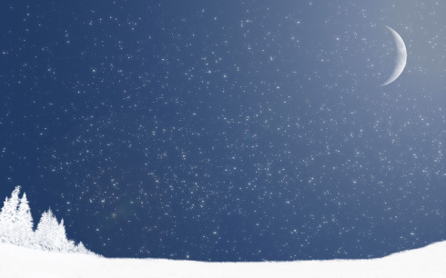 winter_crescent_moon_computer_background_pictures